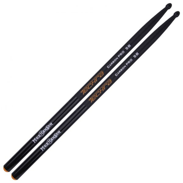 Signature Mike Hansen Carbon Pro Grip 5B Techra Drumsticks