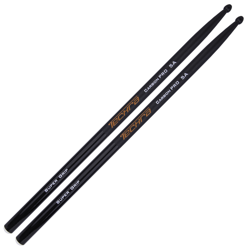 Techra Drumsticks Carbon Pro Supergrip 5A Carbon