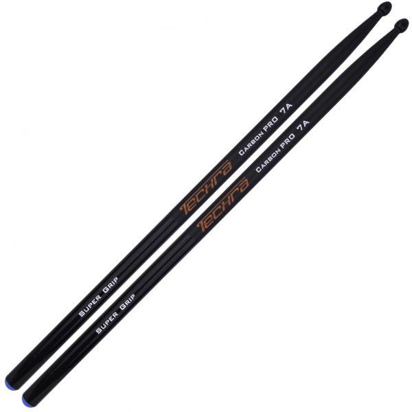 Techra Drumsticks Carbon Pro Supergrip 7A Carbon