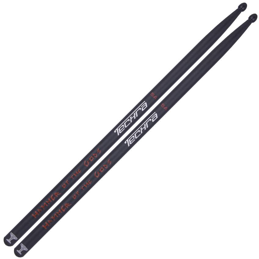 Techra Drumsticks Hammer Of The Gods 5A Carbon